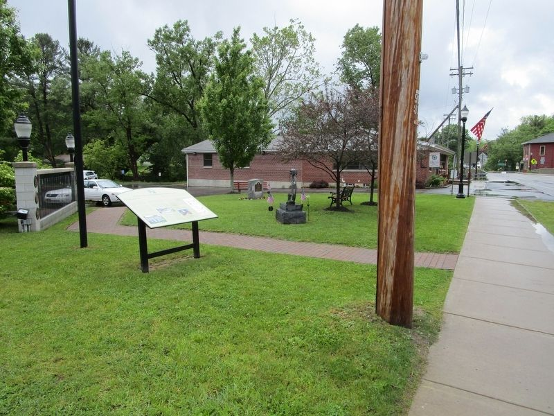 Colden Marker & Veterans Memorial image. Click for full size.
