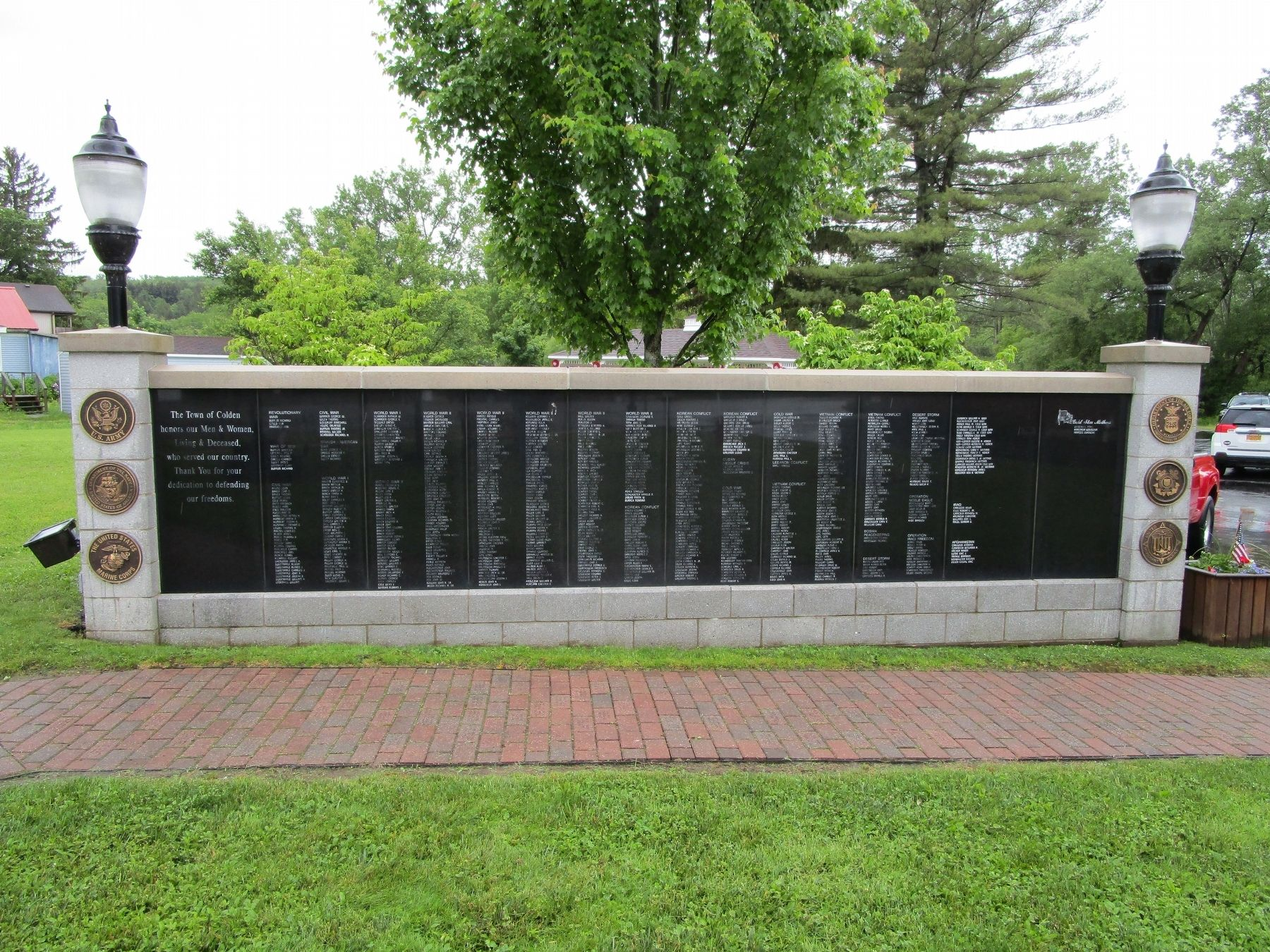 Town of Colden Veterans Wall image. Click for full size.