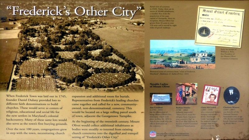 """Frederick's Other City"" Marker image. Click for full size."