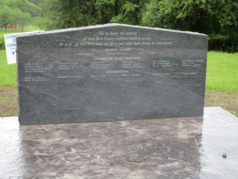Erie County Iraq & Afghanistan Memorial image. Click for full size.