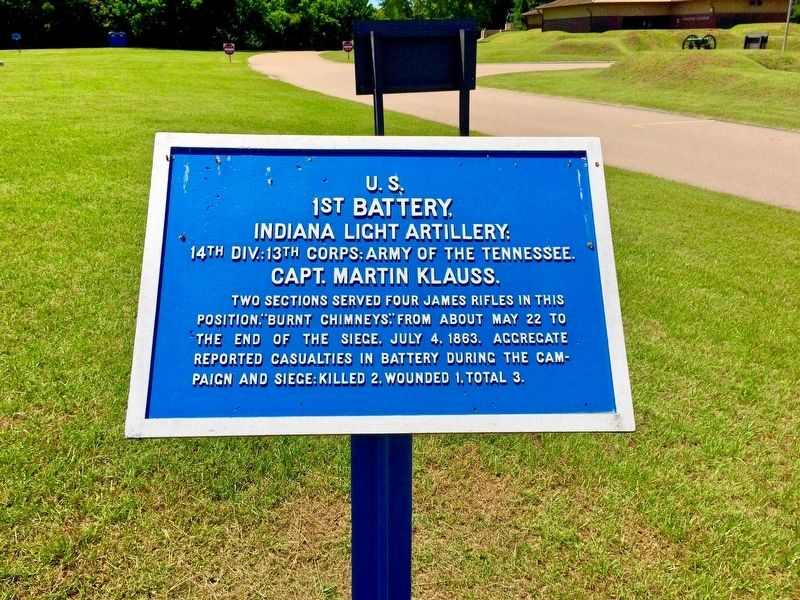 U.S. 1st Battery, Marker image. Click for full size.