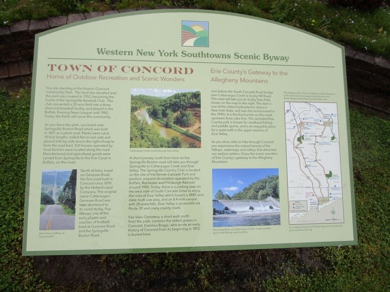 Town of Concord Marker image. Click for full size.