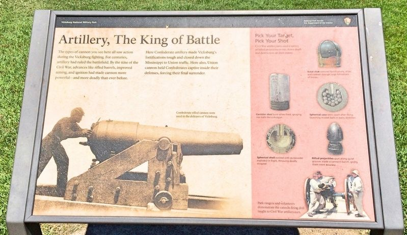 Artillery, The King of Battle Marker image. Click for full size.