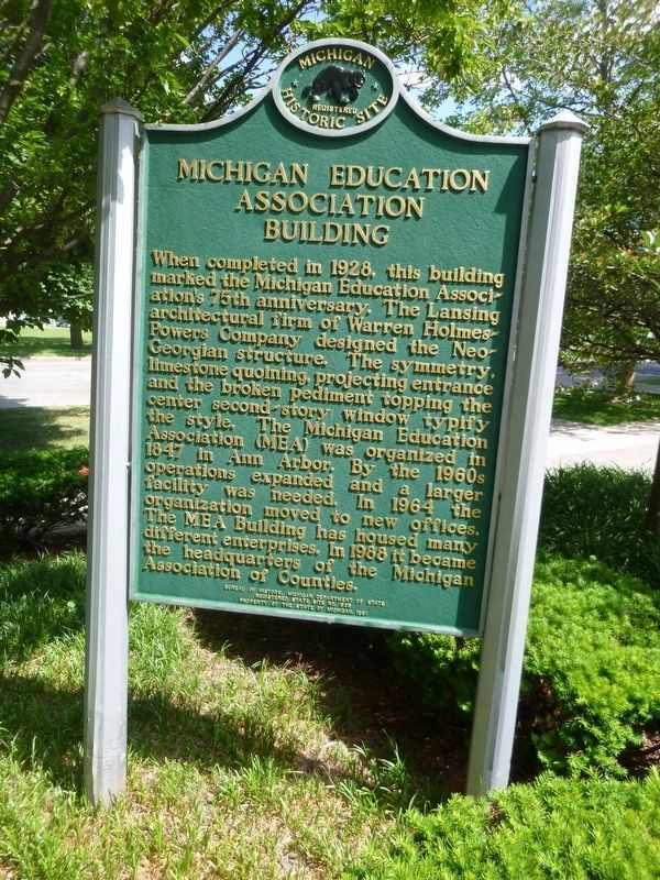 Michigan Education Association Marker image. Click for full size.
