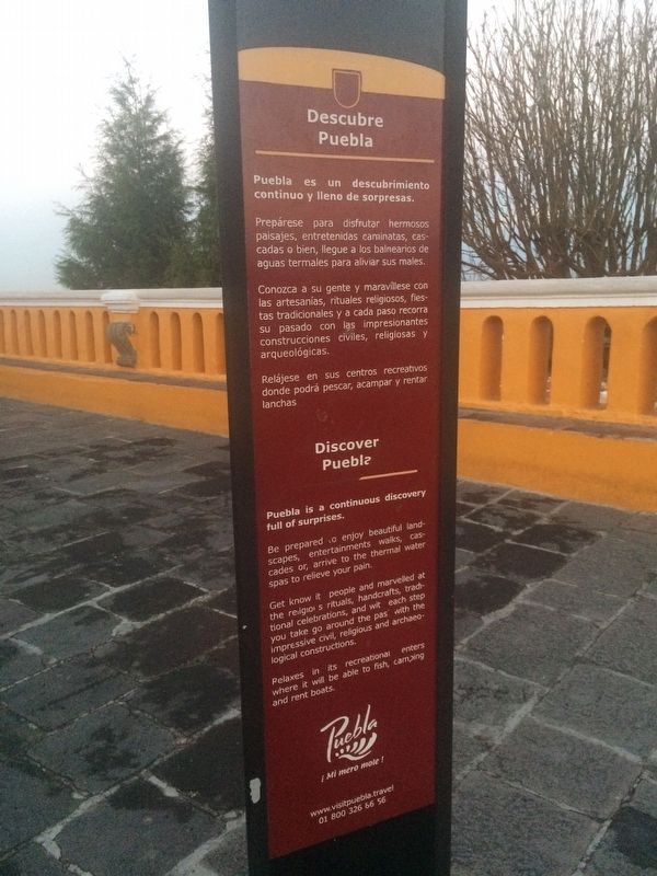 Sanctuary of The Remedies Marker, the third side with tourist information image. Click for full size.