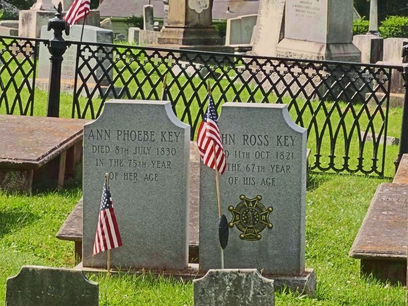 Ann Phoebe Key and John Ross Key Headstones image. Click for full size.