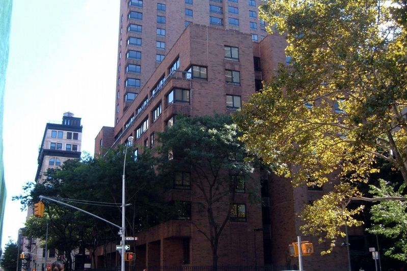 The building is the NYU Mercer Street Residence Hall. image. Click for full size.