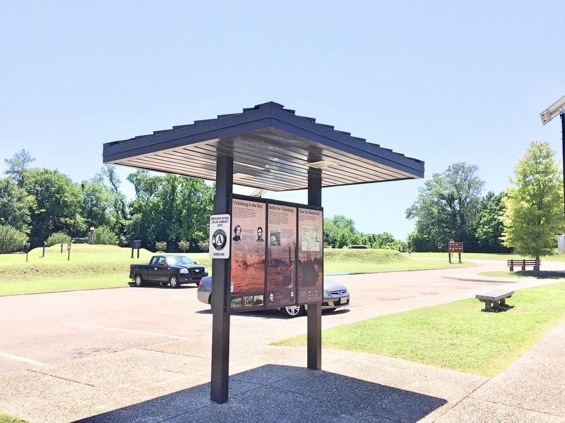 'Vicksburg is the Key' Marker in Visitors Center parking lot. image. Click for full size.