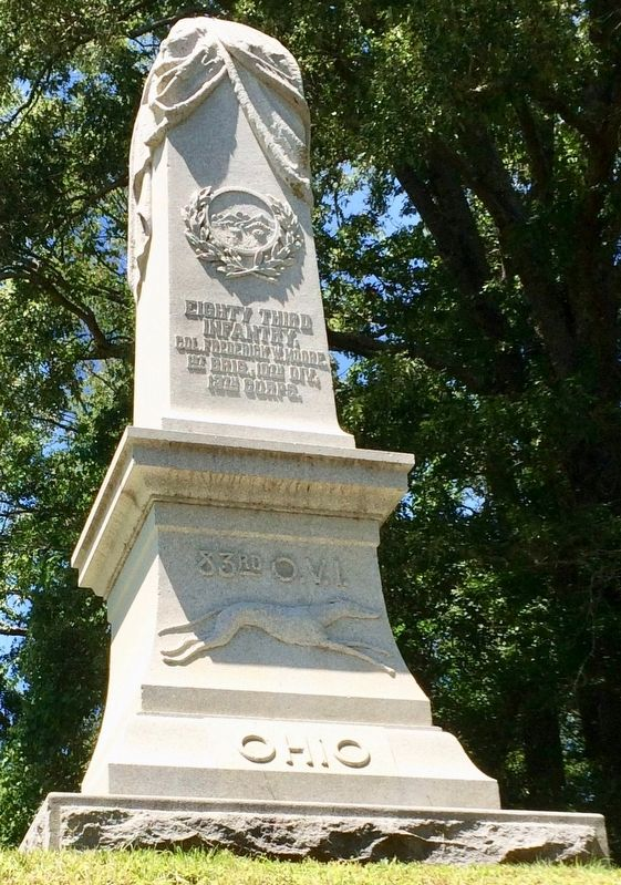 Ohio Eighty Third Infantry Monument image. Click for full size.