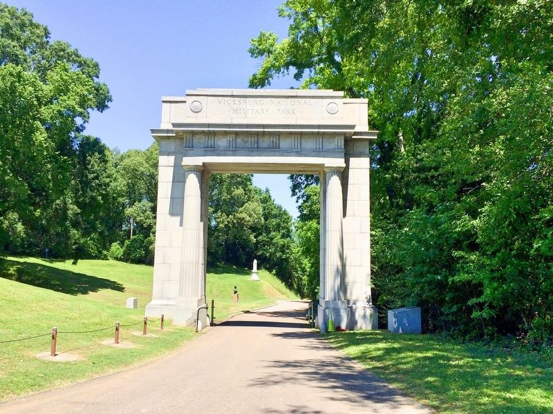 Ohio Eighty Third Infantry Monument can be seen centered under Memorial Arch. image. Click for full size.