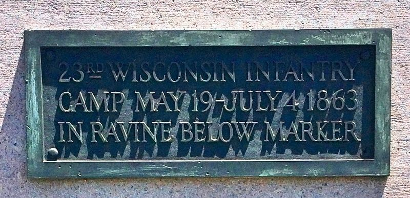 23rd Wisconsin Infantry Camp Marker image. Click for full size.