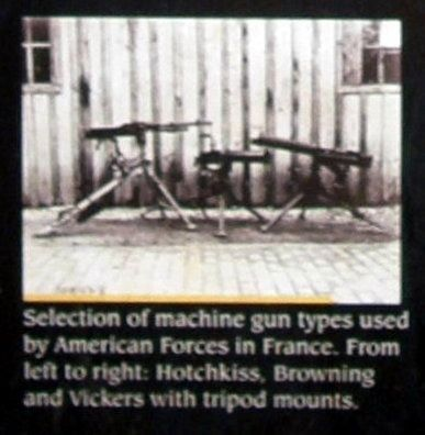 Insert - Hotchkiss, Browning and Vickers machine guns image. Click for full size.