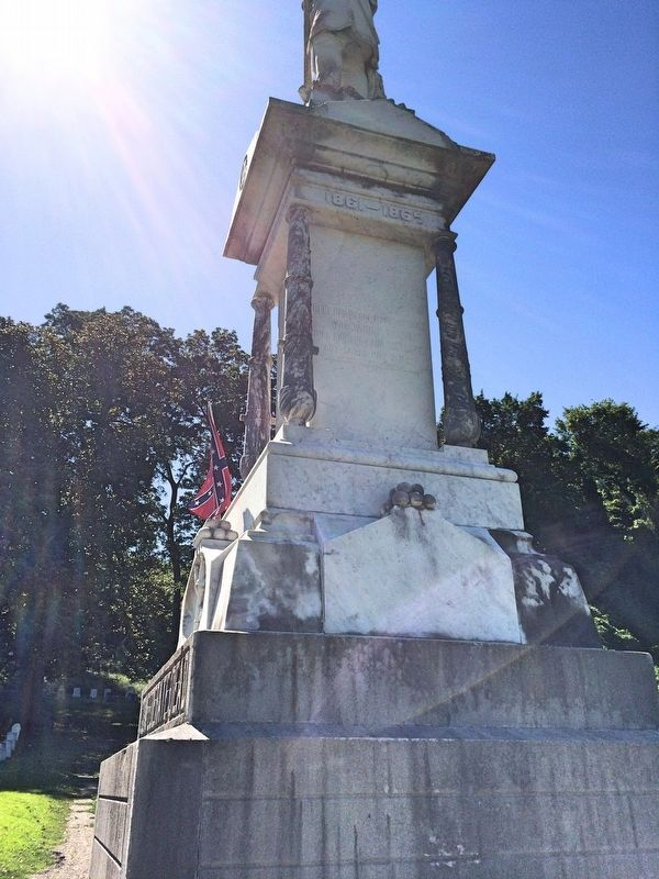 Confederate Dead Monument (Right) image. Click for full size.