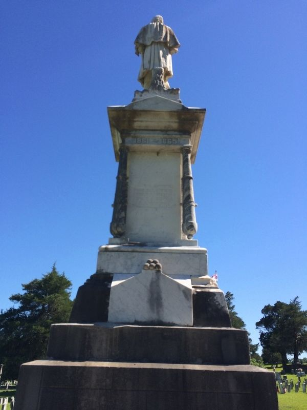 Confederate Dead Monument (Rear) image. Click for full size.