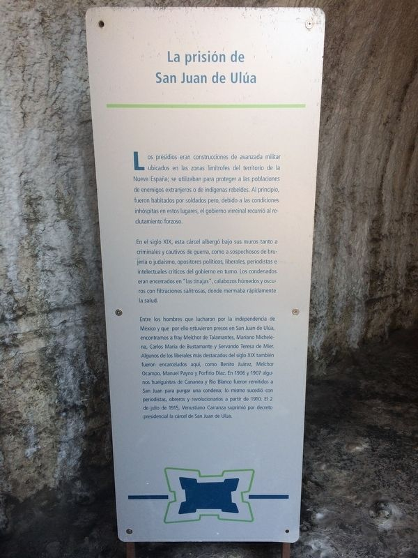 The Prison of San Juan de Ulúa Marker image. Click for full size.