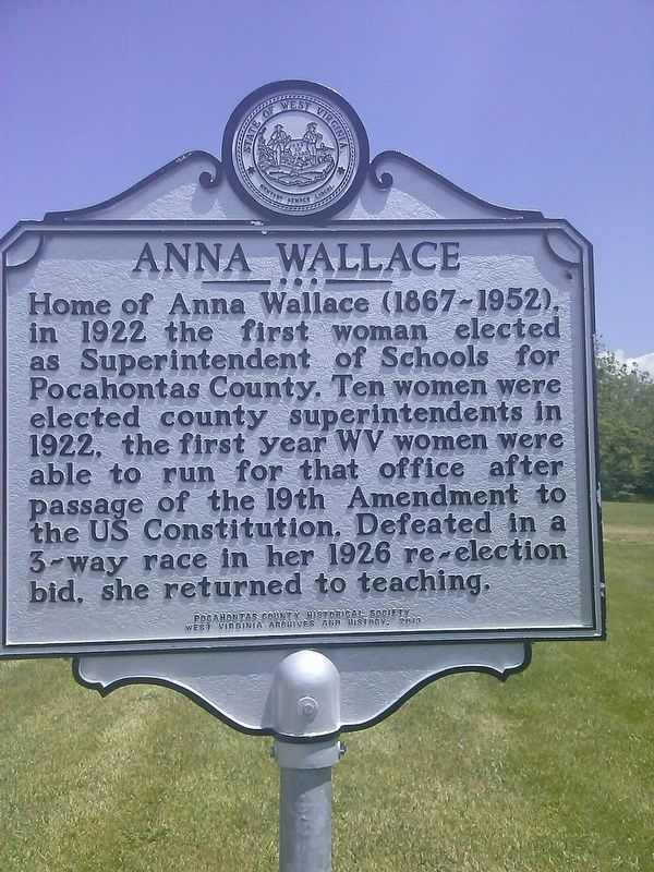 Anna Wallace Marker image. Click for full size.