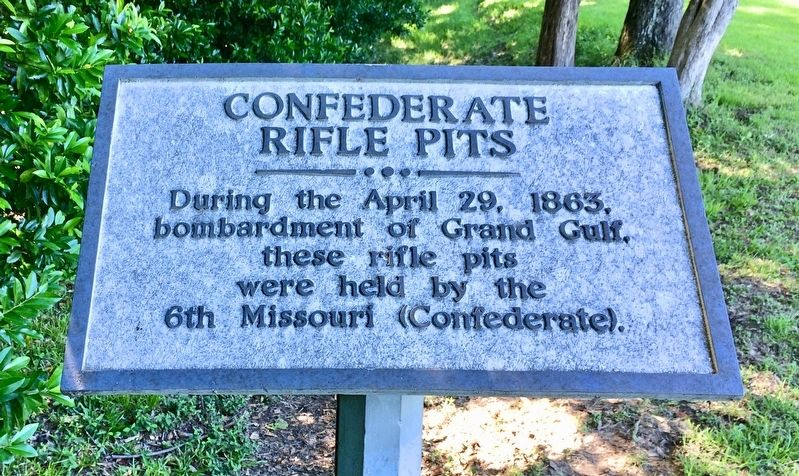 Confederate Rifle Pits Marker image. Click for full size.