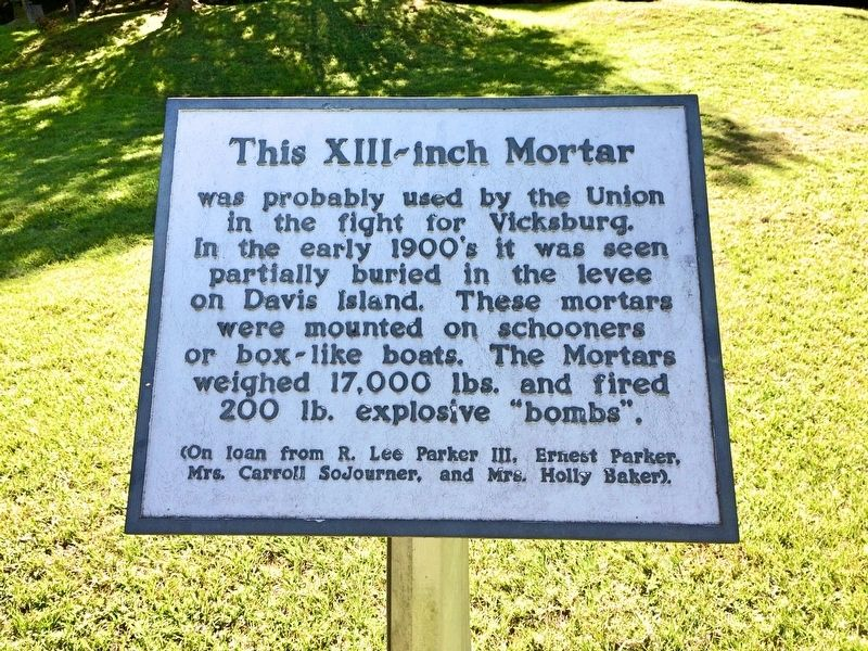 This XIII-inch Mortar Marker image. Click for full size.