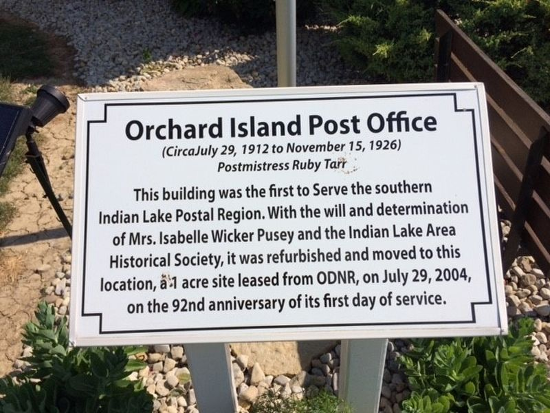 Orchard Island Post Office Marker image. Click for full size.