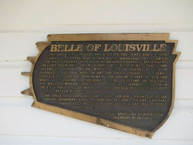 Belle of Louisville Marker image. Click for full size.