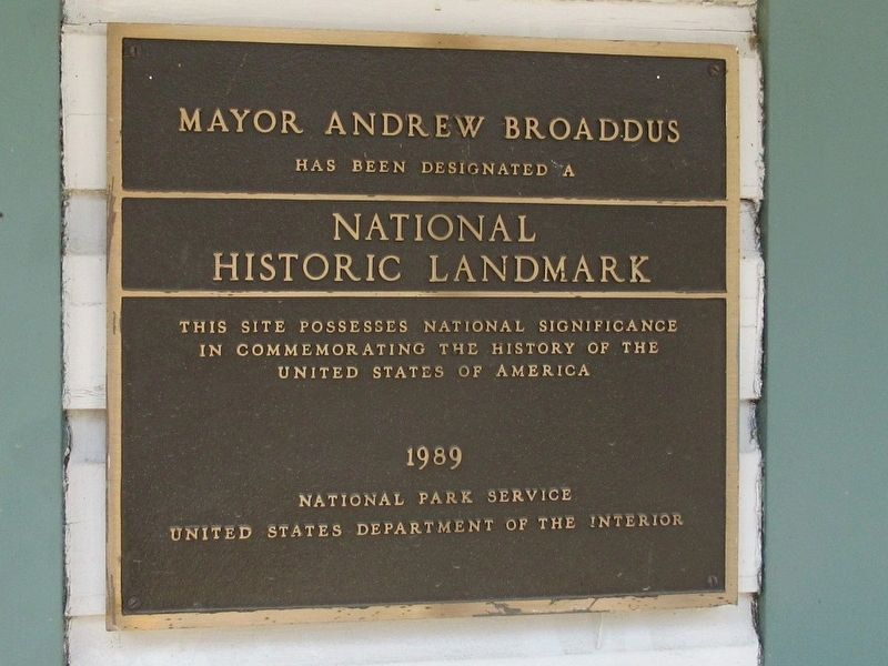 Mayor Andrew Broaddus Marker image. Click for full size.