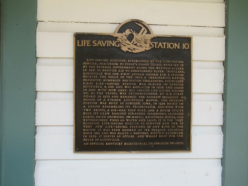 Life Saving Station 10 Marker image. Click for full size.