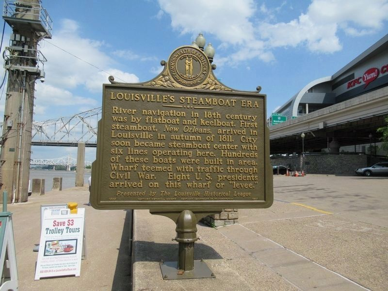 Louisville's Steamboat Era Marker image. Click for full size.