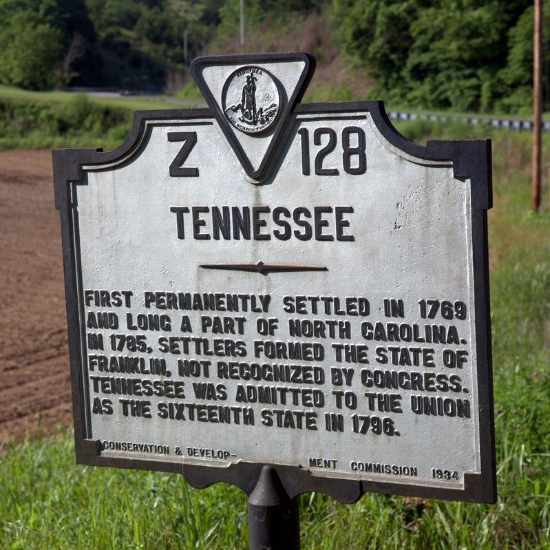 Tennessee face of marker image. Click for full size.