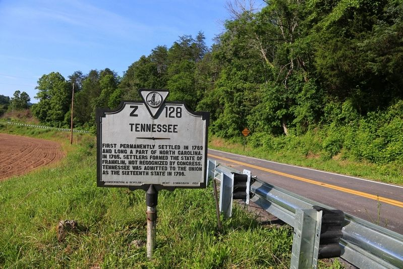 Lee County Virginia / Tennessee Marker image. Click for full size.