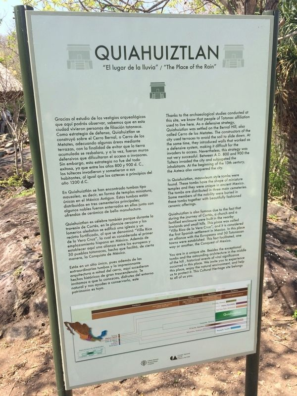 Quiahuiztlán Marker image. Click for full size.