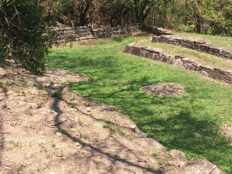 A relatively rare T-shaped ball court at Quiahuiztlán image. Click for full size.