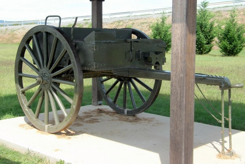 The M1918 Artillery Cart on display image. Click for full size.
