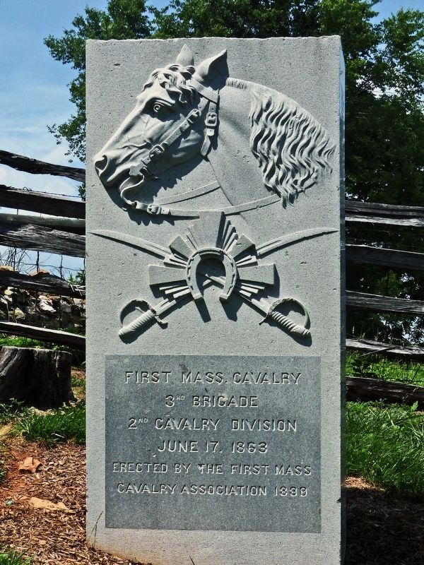 First Mass. Cavalry Marker image. Click for full size.