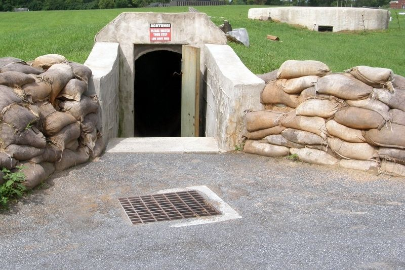 Pillbox (right) and entrance image. Click for full size.