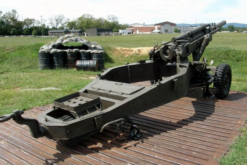 M102 105mm Towed Light Artillery on display image. Click for full size.