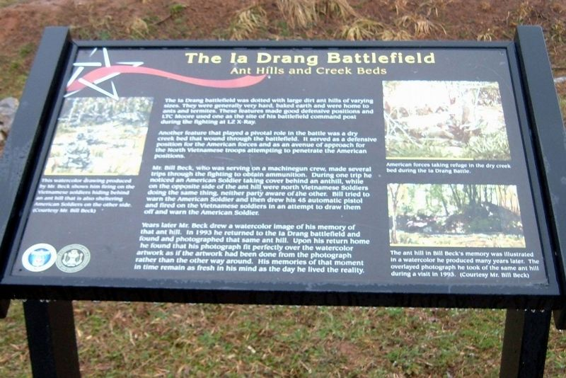 The Ia Drang Battlefield Marker image. Click for full size.