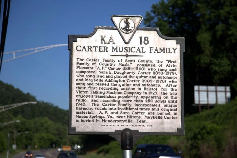 Carter Musical Family Marker image. Click for full size.