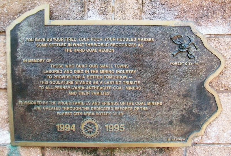 Pennsylvania Anthracite Coal Miners Memorial Marker image. Click for full size.