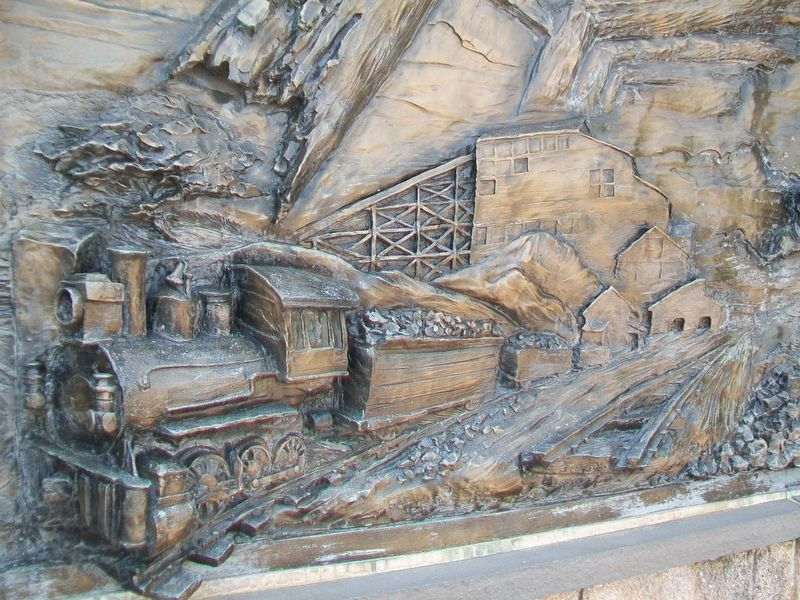 Pennsylvania Anthracite Coal Miners Memorial Detail image. Click for full size.
