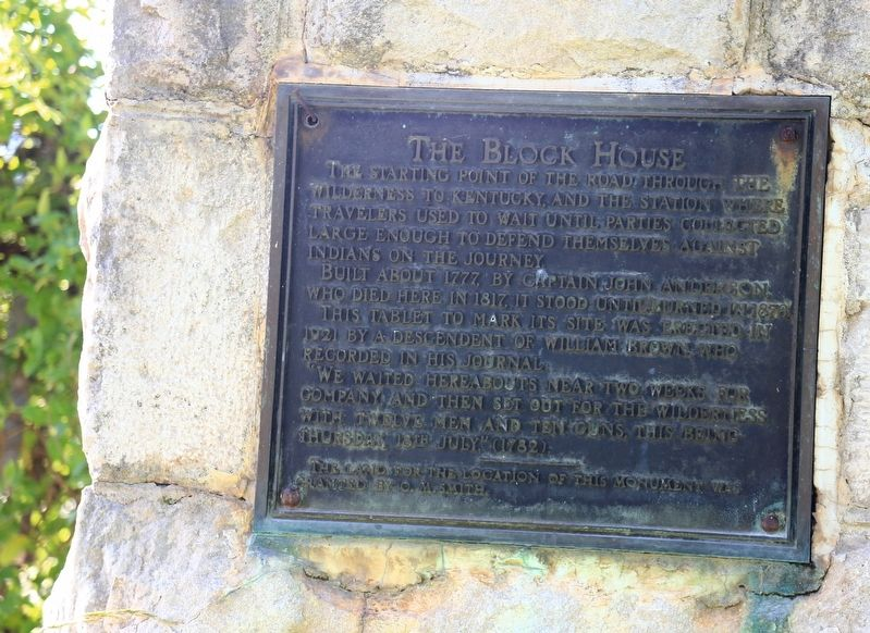 The Anderson Block House Monument image. Click for full size.