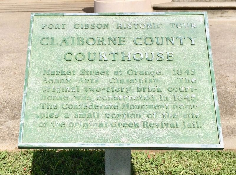 Claiborne County Courthouse Marker image. Click for full size.