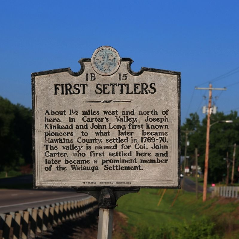 First Settlers Marker image. Click for full size.