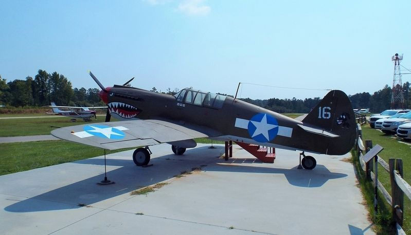 Ret. SFC Zeb D. Harrington and his replica airplane image. Click for full size.