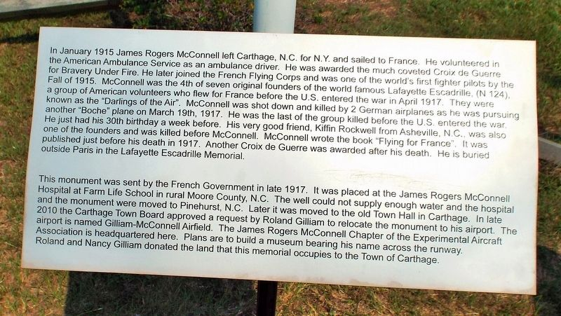 James Rogers McConnell Marker image. Click for full size.