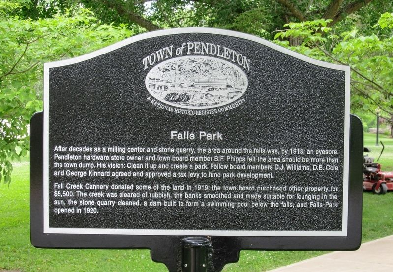 Falls Park Marker image. Click for full size.