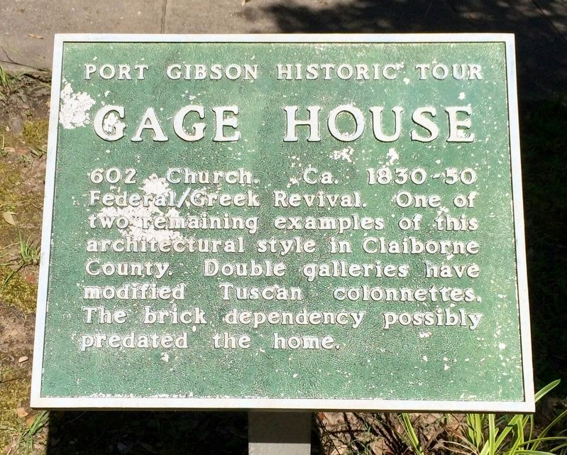 Gage House Marker image. Click for full size.