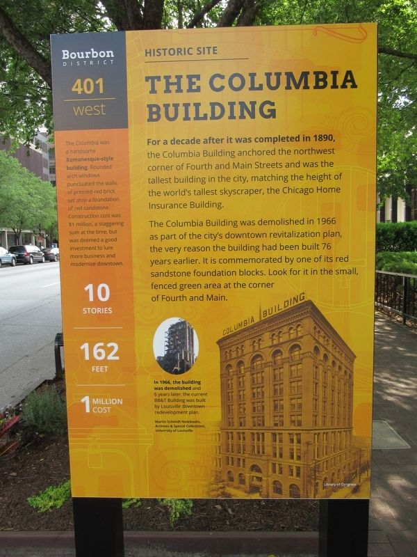 The Columbia Building Marker image. Click for full size.