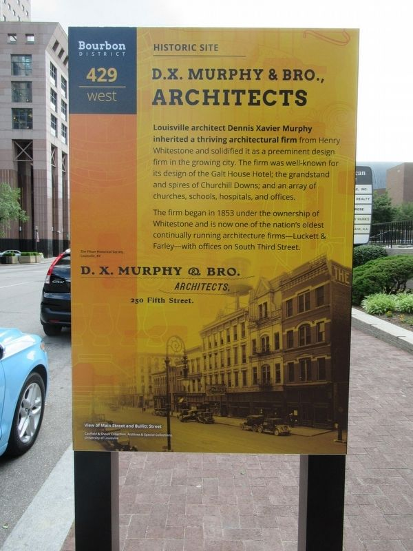 D.X. Murphy & Bro., Architects Marker image. Click for full size.
