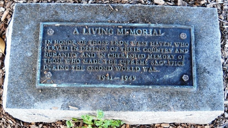 A Living Memorial Marker image. Click for full size.