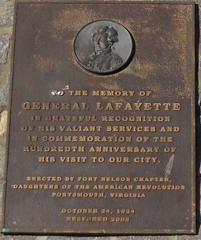 General Lafayette Memorial Plaque image. Click for full size.